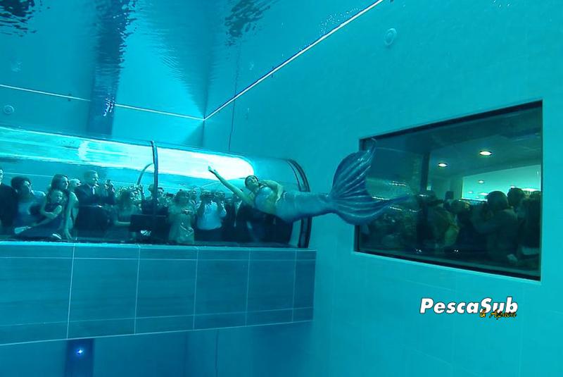 La piscina pi profonda del mondo pesca sub for Y 40 piscina